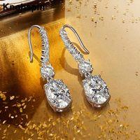 Knobspin 100% 925 Sterling Argent 2021 Mode Vintage Trois-Couleur Haute-Couleur High Carbon Diamond Luxe pour femmes Boucles d'oreilles Bijoux Hoop Huggie