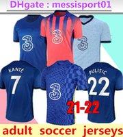 Thailand Jorginho Pulisic Home Third CFC Soccer Jersey 2021/22 Kante Camiseta de Football Kits قميص 2021 2022 Mailleot Camisetas