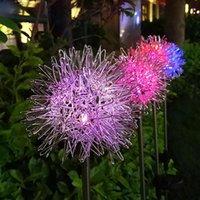 مصابيح الحديقة الشمسية تعمل بالطاقة في الهواء الطلق العشب غلوب الهندباء مصباح الألعاب النارية للحديقة تراس المشهد ملون عطلة الضوء
