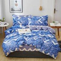 Conjunto de ropa de cama de edredón Conjuntos de patrones de flores Confort Fashion Wedlinen Funda edredón Funda de almohada Funda de almohada 3 / 4pcs King Twin Tamaño