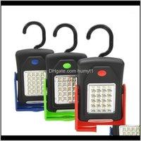 Lanternas portáteis LED Tocha Lanterna Light Light 23 2 Modos Camping Bicicleta Lâmpada com imã De Bublor Hook1 Rujig Ohcop