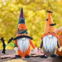 Gesichtslose Zwerg White Bart Puppe Ornamente Atmosphäre Requisiten 2 Arten Halloween Party Dekorationen Kürbis Spitzhut Puppen