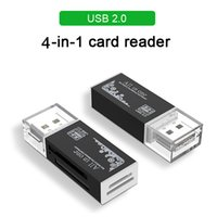 4 In 1 Card Reader USB 2.0 SD Adapter For Micro-SD TF M2 MMC MS PRO DUO