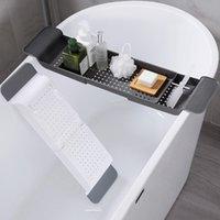 تنزه المطبخ سلة متعددة الأغراض تعديل صينية حوض الاستحمام النبيذ الزجاج رف الكتب