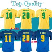 2021 Soccer Jersey Brasil Camicie da calcio 20 21 Neres Camisa Futebol Brazils Copa America Camiseta de fútbol Coutinho Firmino Gesù Camicia