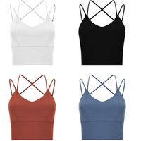 lulu shaping Quick-drying bra women tops lu Sports running shockproof Gather underwear Fitness dance yoga vest sexy Beautiful back Comfortable without steel ring