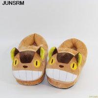 Totoro söt katt tecknad djur kvinnor / män par stuga för inomhus hus sovrum lägenheter varma vinter skor tofflor