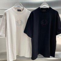 21SS EUROPE Luxe Paris Spring Summer Summer T-shirt Broderie Lion Tee Hommes Femmes Coton Short Sleeve T-shirts