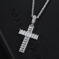 Pendant Necklaces Men Women Hip Hop Iced Out Bling Cross High Quality Zircon Hiphop Necklace Fashion Jewelry Gifts