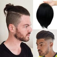Herren Toupee Haarstücke Ersatzsystem für Männer Schweizer Spitzennetz mit halber PU um Haare 100% europäisch Remy Human Hair 17 * 11cm