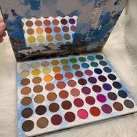 Premium Brighten اللون ماتي لامع 63 ألوان عينيه لوحة مستحضرات التجميل مقاومة للماء طويلة الأمد سهلة ارتداء العين الصباغ ضغط مسحوق ماكياج dhl مجانا