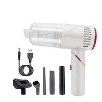 Vaceuteur d'aspirateur multifonctionnel portable Chargement USB Pliant Wireless Handheld Mini Voiture Vacuum / Nettoyant Noir / Blanc