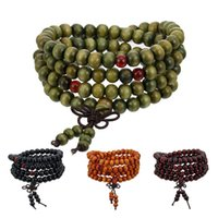 Beads 8mm Natural Sandalwood Buddhist Buddha Bracelet Women Men Wooden Bracelets&Bangles For Unisex Prayer Necklace Jewelry Beaded, Strands