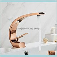 Sink Faucets Faucets, Showers As Home & Gardentuqiu Modern Bathroom Mixer Tap Rose Gold Wash Basin Faucet Handle Single Hole And Cold Waterf