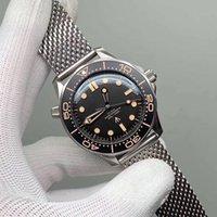 """Brand Limited Wrist Watch Sea Diver 300 Master Titânio """"Não há tempo para morrer"""" James Bond 007 Edition Automatic 42mm Mesh Nato Pulseira de Aço Inoxidável 210.90.42"""