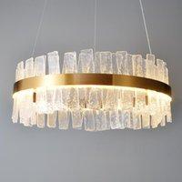 Chandeliers Modern Crystal Chandelier For Living Room Morden Luxury Lighting Gold Polished Steel Design LED Hang Lamp DHL Fedex