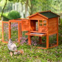 لوازم الحيوانات الأليفة الأخرى الحيوانات الصغيرة الطبيعية منزل الأرنب القفص، برتقالي