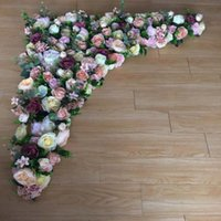 2pcs lot ( 1.2mL X1.2m W piece) Lovely Flower Board Wall Stand , Walkway Stage Frame,Table Runner Wedding Decoration Decorative Flowers & Wr