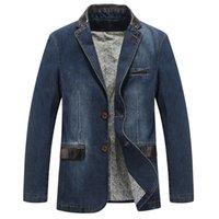 Erkek Ceketler Denim Blazer Erkekler 4XL Moda Tasarım Erkek Takım Elbise Giyim Rahat Uzun Boylu Ceket Erkek Ceket Slim Fit Jeans Blazers PCSP