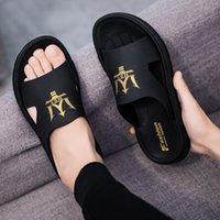 2021 comfortable kanye slides west slippers desert sand summer brown flat men women beach resin slide sandal mens womens slipper Graffiti Bone Rubbe