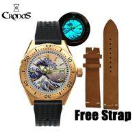 Cronos дайвинг мужские часы автоматические CN (происхождение) 20Bar резиновые светящиеся роскошные наручные часы