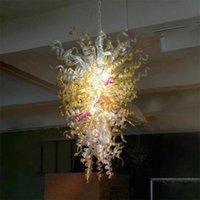 Art Deco Nordic lampade a sospensione lampadario 24x40 pollici lampadari in vetro soffiato a mano con lampadine a LED illuminazione stile americano per la decorazione domestica luci pendenti