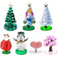 Ozdoby świąteczne Magiczne drzewo Papier Kryształ Sakura Xmas Prezent Nowość Rosnące Dla Dzieci Dzieci Dekoracja Dekoracji Rok 2022