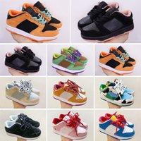 Nike SB Dunk Low Ben Jerry's Casual Chaussures Enfants Femmes Mens Vert Orange Bleu Blanc Dunks des Chaussures Taquets 26-35
