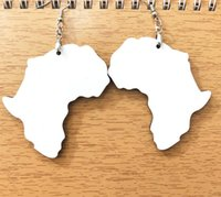 10Pairs Jewelry Sublimation DIY White Blank Wooden African Earrings