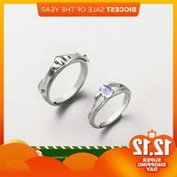 Thaya Natural Blue Light Moonstone Rings Lovers' Romantic Ring 100% s925 Silver Armour Bands For Women Vintage Elegant Jewelry J1208