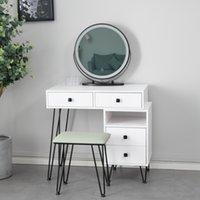 Yatak odası mobilya demir sosu masa ayna başucu masif ahşap makyaj masası net kırmızı basit saklama dolabı entegre beyaz mobilyalar