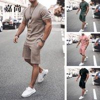 2021 Summer Short Sleeve Shorts 2-piece Sports Casual Men's Suit