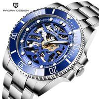 Saatı Pagani Tasarım PD-1659 Erkekler Mekanik Kol Saati Moda Hollow İzle Safir Paslanmaz Çelik Su Geçirmez Otomatik Saatler