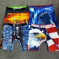 Ethika الرجال الملاكمين السروال تعزيز أنماط عشوائية السراويل الشاطئ السباحة جذوع الملابس الداخلية الرياضة الهيب هوب مرونة سراويل كلايكرز سريعة الجافة