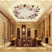 Sfondi personalizzati PO murales PO murales 3D soffitto fiori marmo di cammeo floreali floreali floreali per soggiorno biancheria da letto decorazioni per la casa