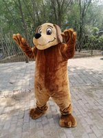 Real Picture Brown dog mascot costume Fancy Outfit Cartoon Character Party Dress