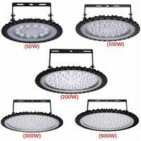 الأضواء الكاشفة 220V 110V LED أضواء الفيضانات UFO High Bay Light 50/100 / 200W Low Lamp للماء UltraSlim Industrial for Warehouse Mall