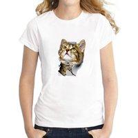 2021 Fashion 3D cat Printing Harajuku Women t shirts Summer Short sleeve O-neck Tshirt Casual Streetwear Top Female T-shirts Clothes