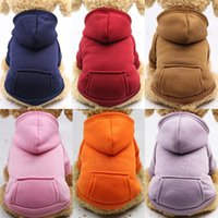 Dog Apparel Solid Pet Hoodies Warm Clothes For Small Dogs Puppy Coat Outfit Sweatshirts Large Chihuahua Cat Custume