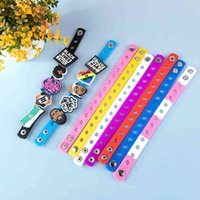10 unids pulsera de silicona de color aleatorio con hebilla de croc accesorios de PVC zapatos encantos niño cumpleaños regalos
