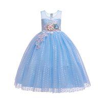 Girls Dresses Children Clothing Kids Clothes Wear Long Princess Skirt Lace Flower Party Formal B8537