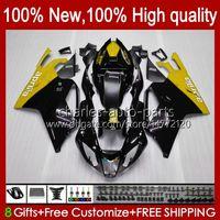 Karosserie für Aprilia Mille Yellow Black RV60 RSV 1000 R 1000R 1000RR RSV1000R 04-06 Körper 11No.123 RSV-1000 RSV1000RR 2004 2005 2006 RSV1000 R RR 04 05 06 MOTO FAIRING KIT