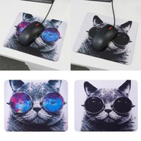 Mouse Pads & Wrist Rests Sunglasses Cat Kitten Lovely Computer Pad Mat PC Mice