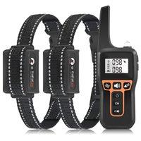 Novo 1000m controle remoto Distância Dog Dispositivo de Treinamento Anti-Barking Bark Bark Vibração Collar Pet Formes para 3 Cães