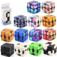 Stock infinito mágico cubo creativo galaxia fitget juguetes antiestress oficina flip rompecabezas mini bloques descompresión juguete DHL