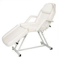 WACO-Gesichtsbehälter Bettstuhl, Salon Massage Therapie Tattoo Möbel, Lederabdeckung Falten Dual-Zweck Tragbare Ausrüstung, Weiß