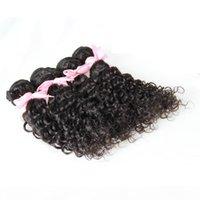 Vague profonde Tissage des cheveux brésiliens Extensions de tissage de cheveux 400g 100% Human Hair Weave Bundles Naturel Couleur Virgin Virgin Virgin Naturel Hair Brésilien 4 pcs
