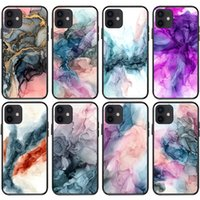 Luxury Plating Line Art Splicing Marble Phone Cases Soft Pc For Iphone 11 12 13 Pro Max X Xr Xs 8 7 Plus High Quality Shockproof Shell Cover