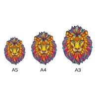Деревянные головоломки Животные Fox Lion Wolf Puzzle Игрушка Каждый кусок Мультфильм Животное Деревянное Головоломка Для Детских Игрушек
