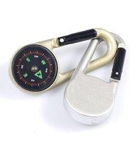 Портативный Mini Compass Keychain Buckle Сплав Водонепроницаемый Многофункциональные инструменты для путешествий туристов на открытом воздухе гаджеты